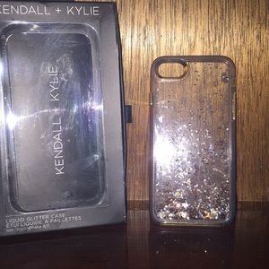 iPhone 7/8 Kendall + Kylie liquid glitter case